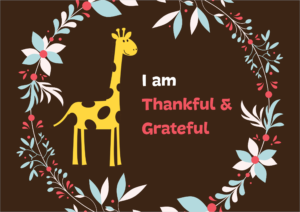 Felicitare Thankful & Grateful