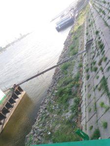 Deşeuri pe malul Dunării în Portul Giurgiu -