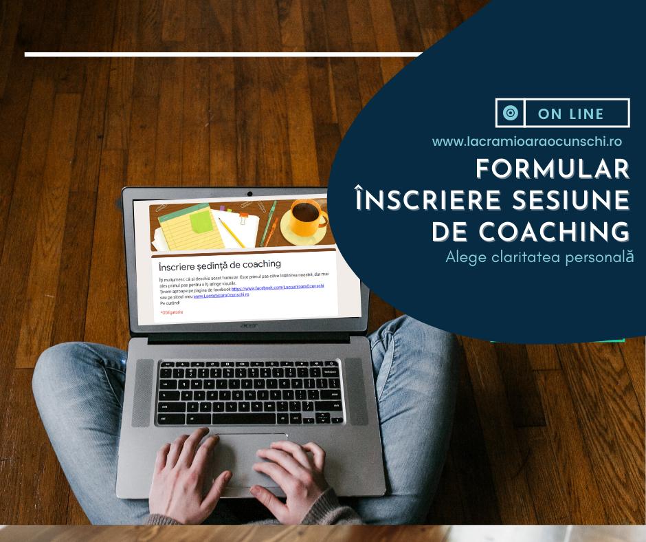 Formular înscriere sesiune coaching